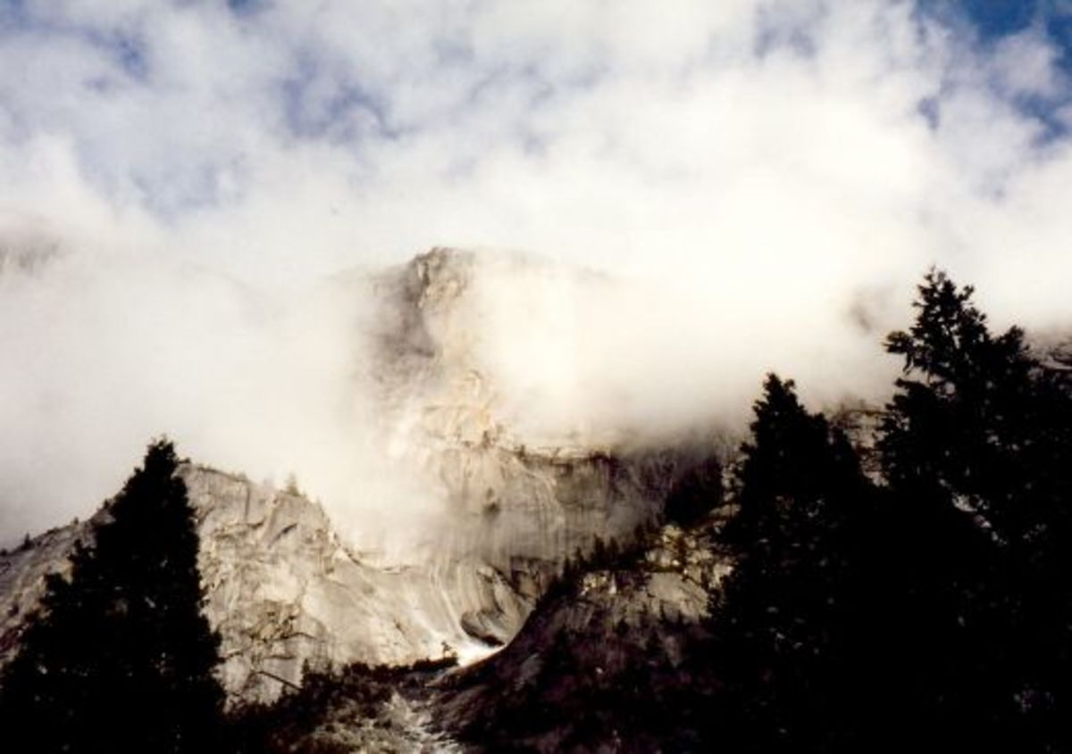 Yosemite and clouds