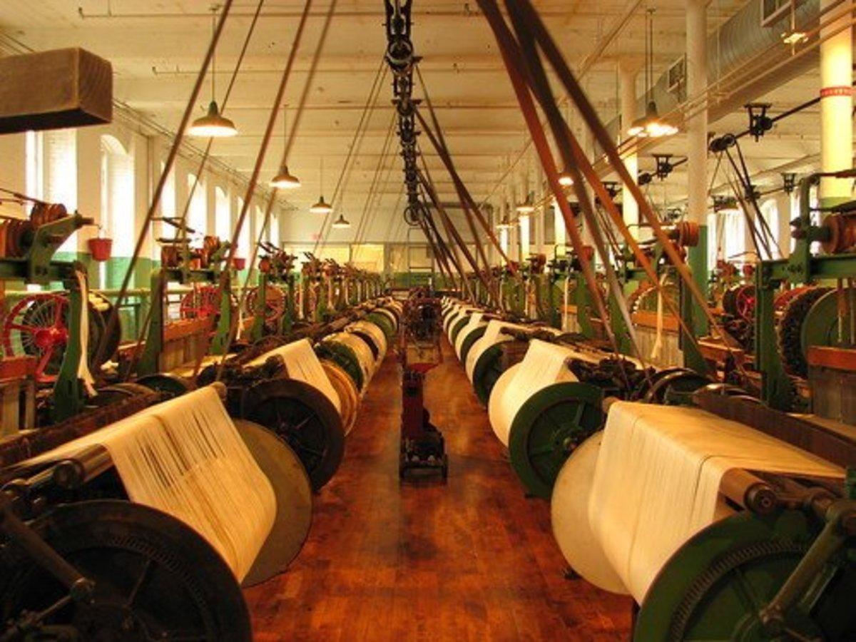 洛厄尔的织造室。