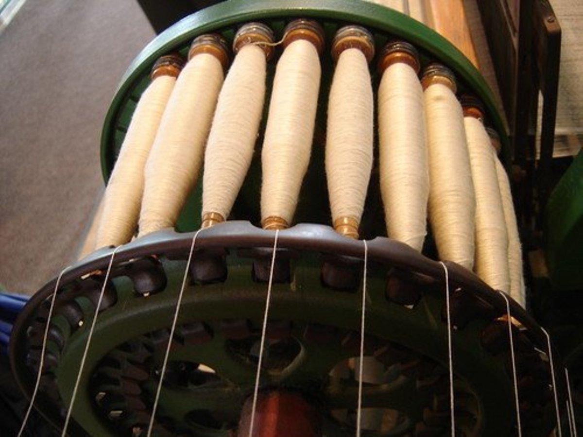 洛厄尔开升棉厂的纺纱棉花。