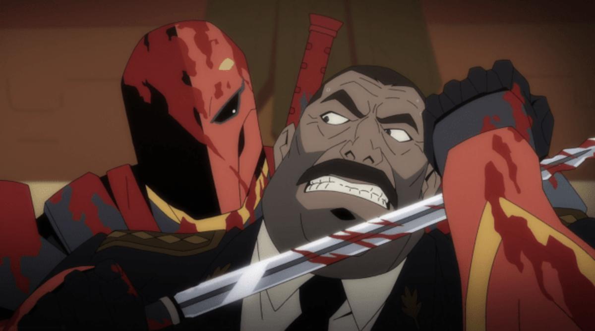 Deathstroke confronts General Suarez.