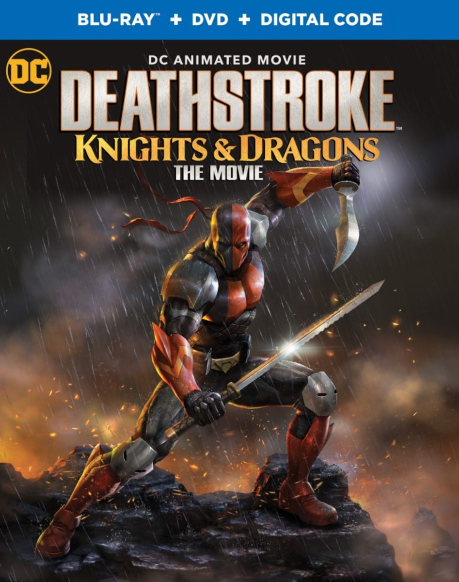 """Deathstroke: Knights and Dragons"" official blu-ray cover."