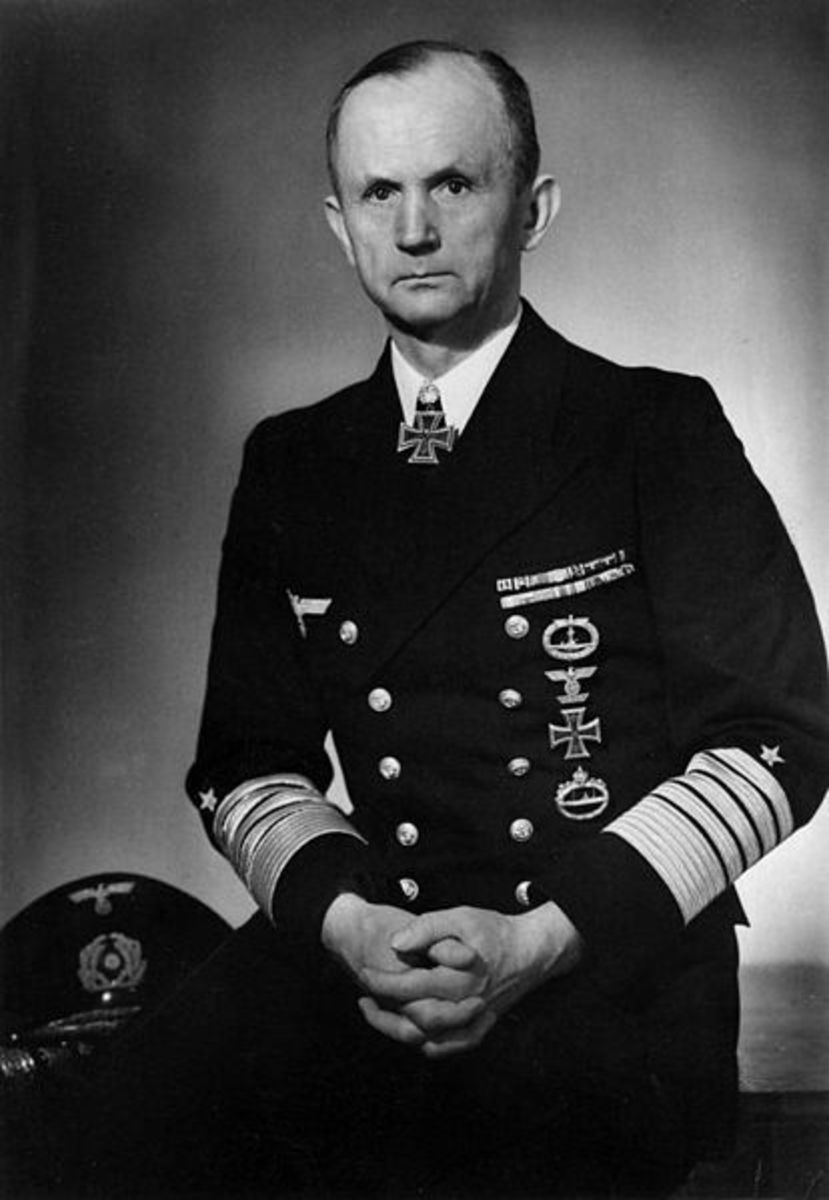 Admiral Karl Donitz, earmarked by Hitler as the next leader of the Third Reich. After Hitler's death, he served as President until Germany's surrender on the 8th May 1945.