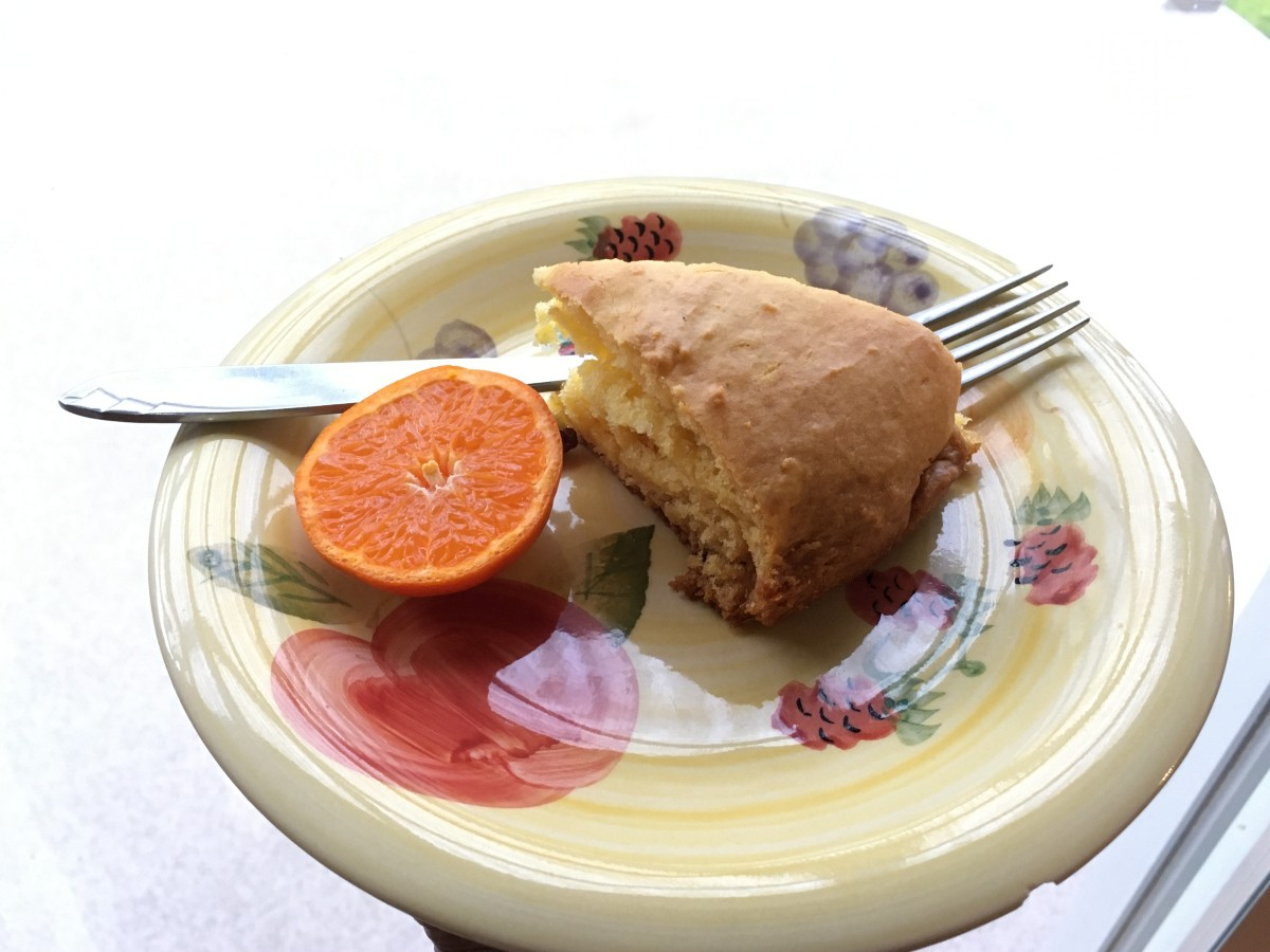 A Piece Of Orange Cake & Half An Orange