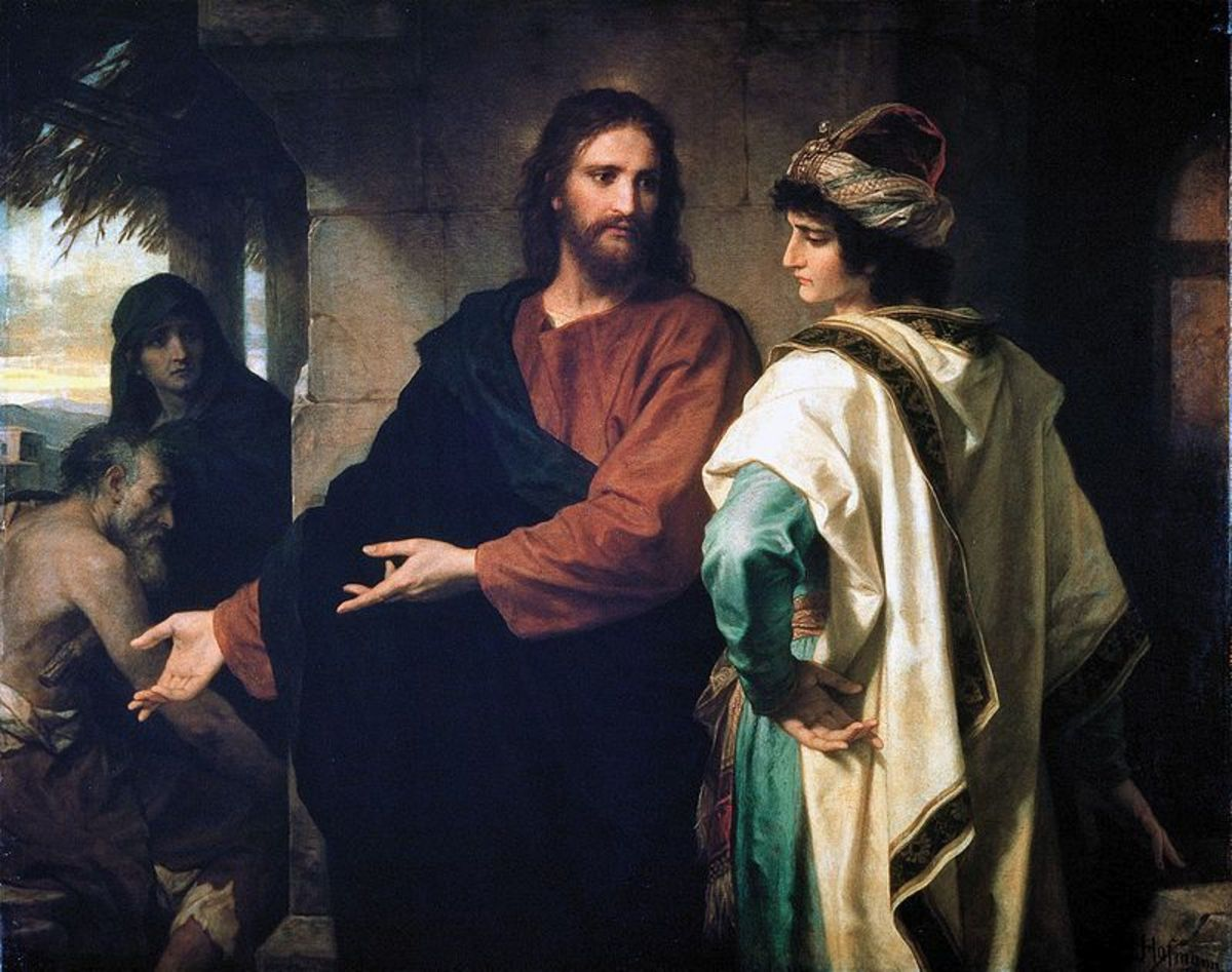 The Rich Young Ruler Talking to Jesus