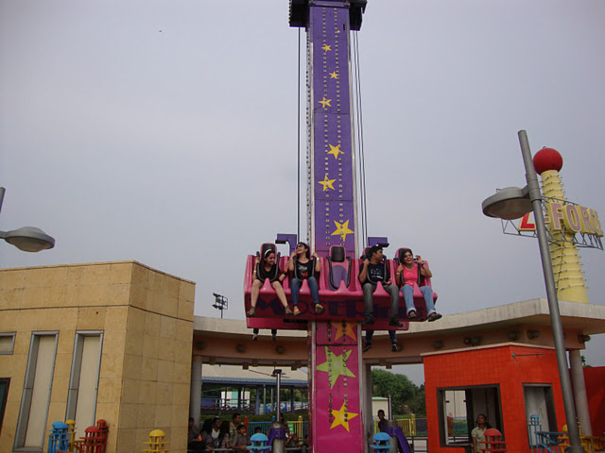 Z-Force ride of Adventure Island Rohini New Delhi