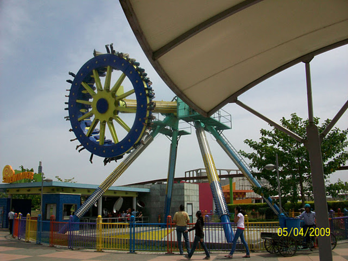 Sidewinder ride of Adventure Island Amusement Park in New Delhi