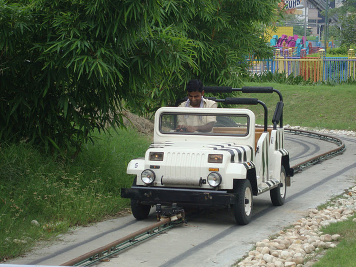 Jungle Safari ride in adventure island rohini