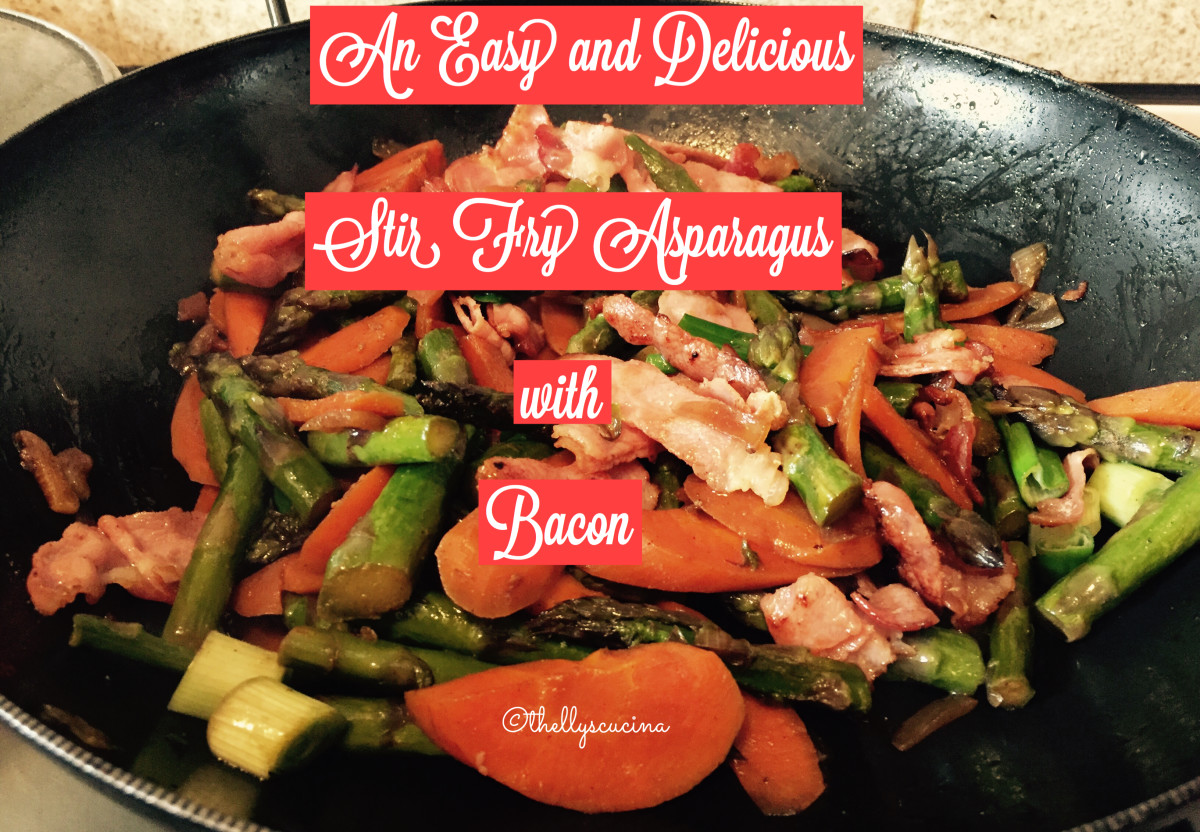 An Easy and Delicious Stir Fry Asparagus with Bacon
