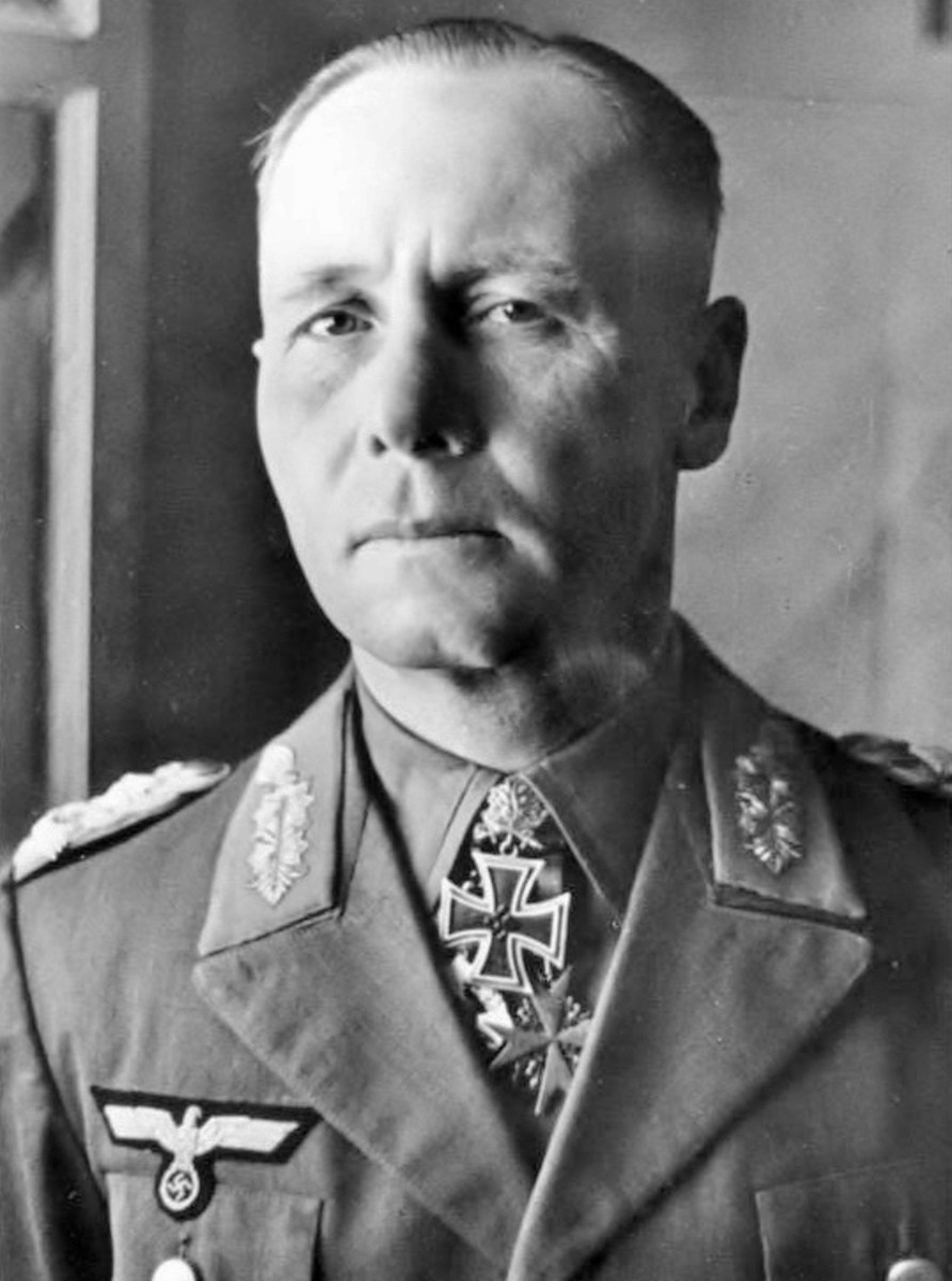 Erwin Rommel as he looked in the spring of 1942. By the time he finished in North Africa, Adolf Hitler would promote him to Field Marshal for his success against Britain's desert army.