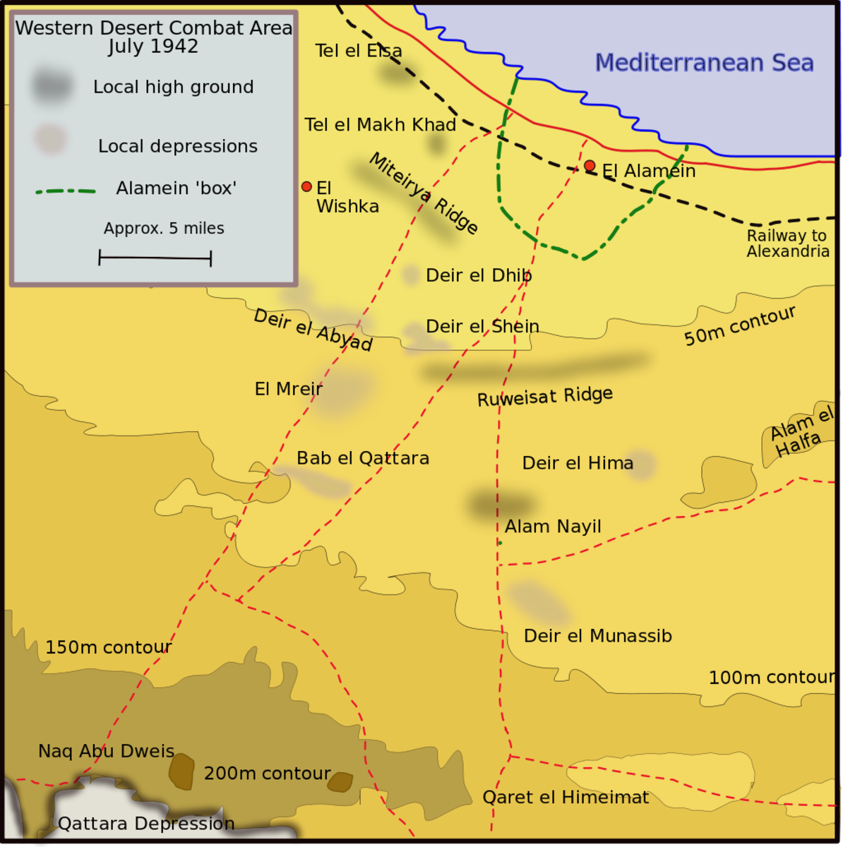El Alamein and surrounding area it would prove to be the most climatic battle of the entire North African campaign.