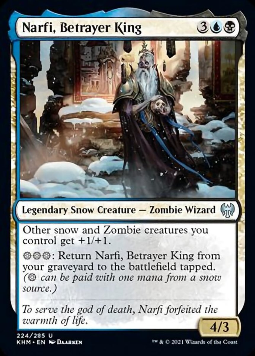 Narfi, Betrayer King mtg