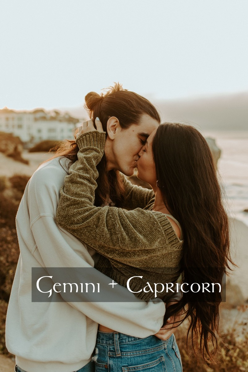 Gemini and Capricorn fall in love like yin and yang. They complement each other perfectly. Gemini loves to learn new skills for fun. Capricorn loves to learn new things for survival.