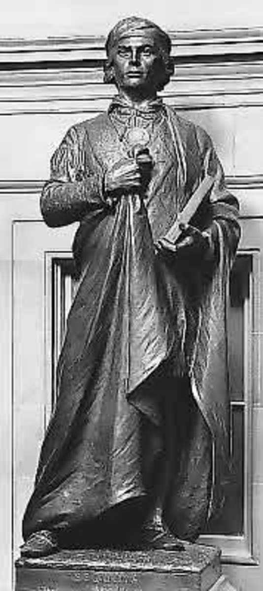 Bronze by Vinnie Ream (completed by G. Julian Zolnay).  Given in 1917.  Location: National Statuary Hall