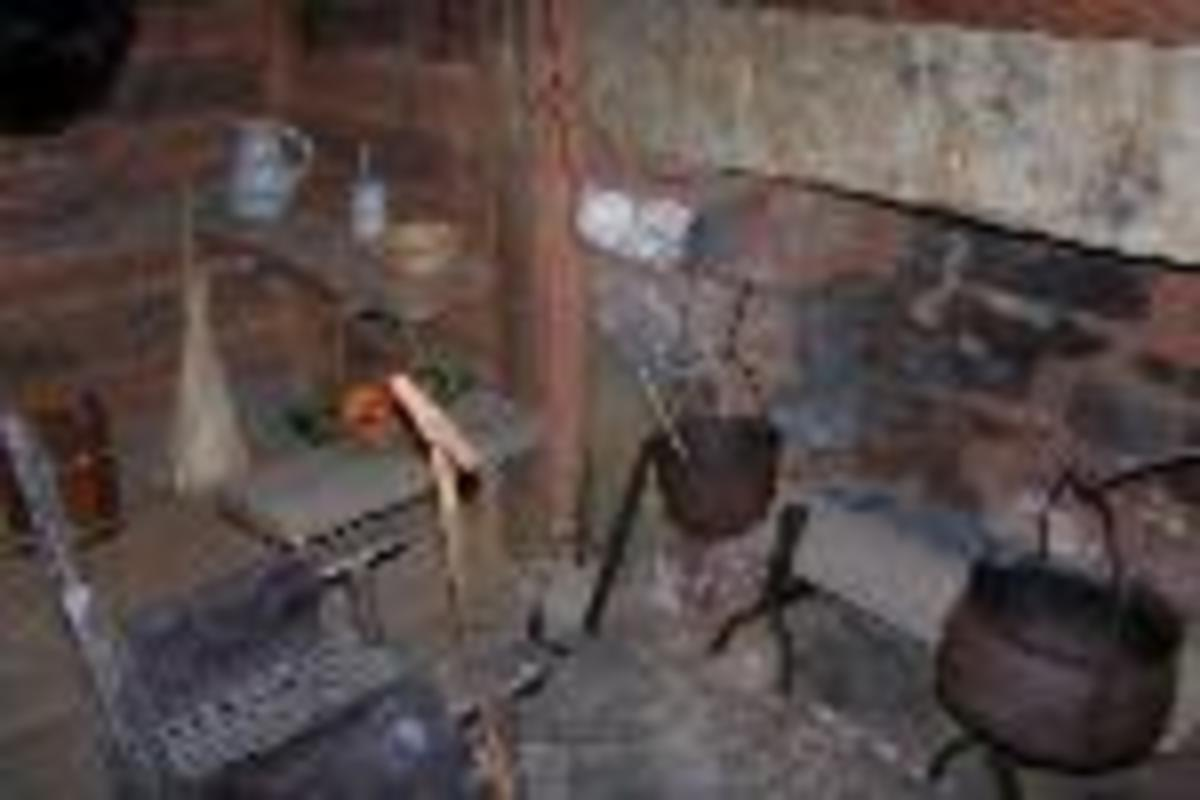 The fireplace by which Sequoyah   once cooked and warmed   himself on cold days is among   the preserved features in his   original cabin.