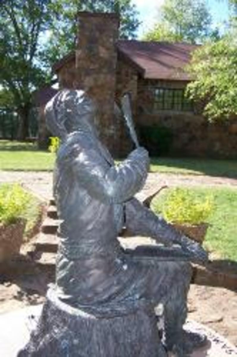 Statue of Sequoyah at Sequoyah's Cabin Historic Site