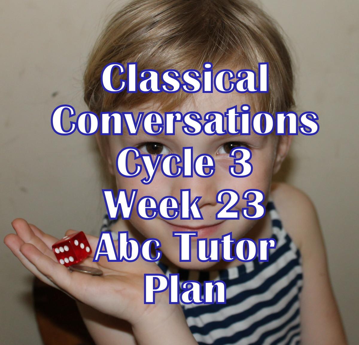 Classical Conversations CC Cycle 3 Week 23 Lesson for Abecedarians - CC C3W23