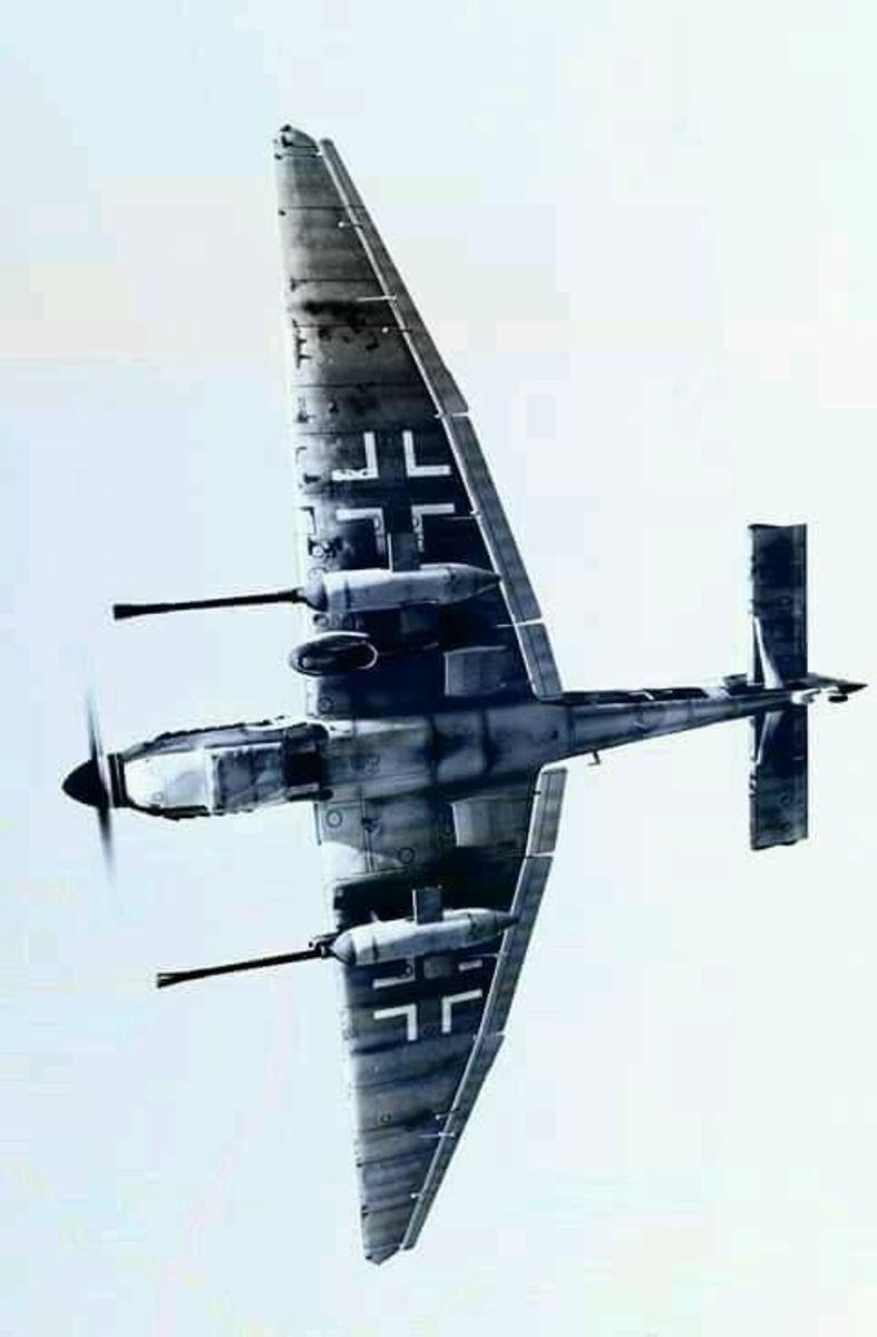 The underside of the JU-87 tank buster a view its victims would see just before their destruction.