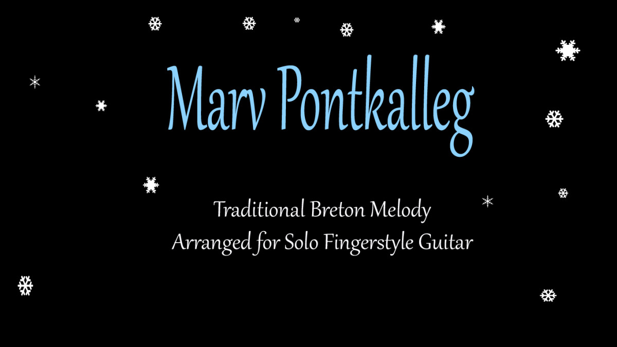 Marv Pontkalleg: Celtic Fingerstyle Guitar Arrangement in Tab, Notation and Audio
