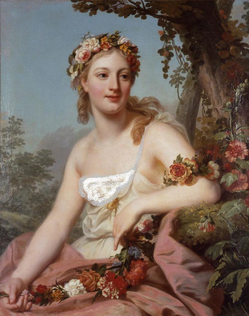 Flora by Alexander Roslin (1718 - 1793)