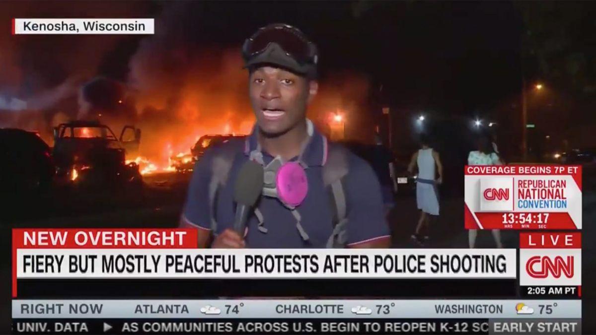 "As Kenosha Burns, CNN Gaslights Viewers, ""Mostly Peaceful Protests"""