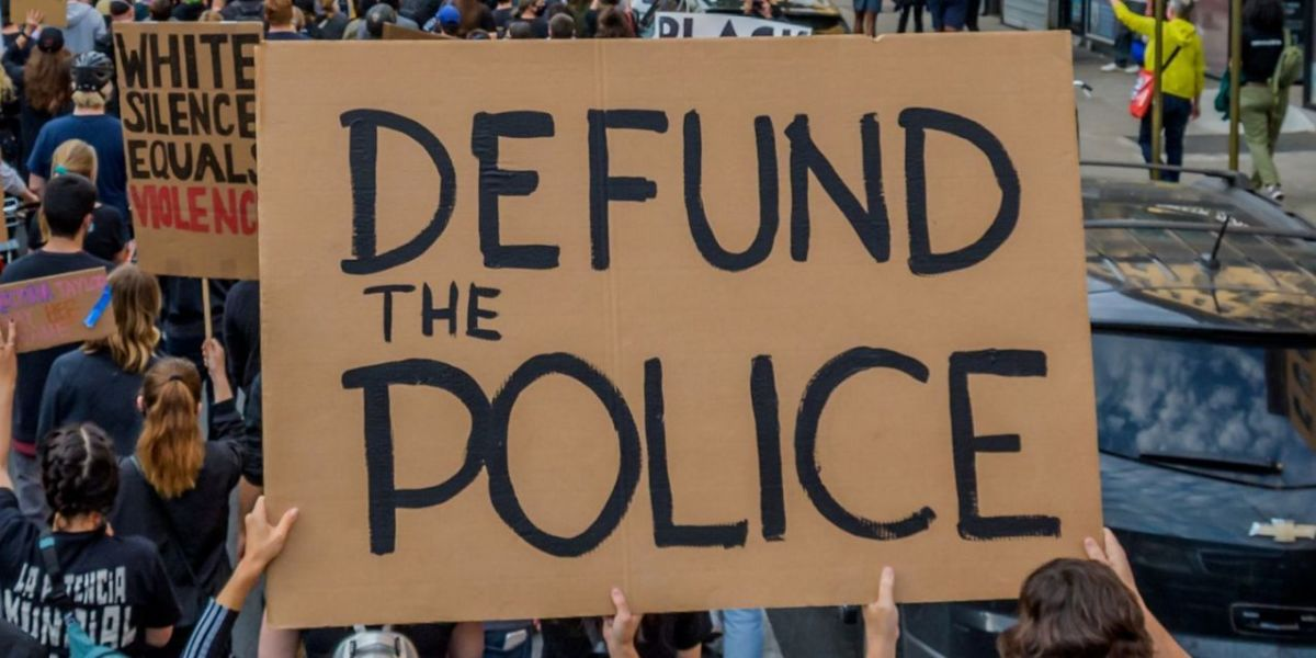 Defund the Police protest sign