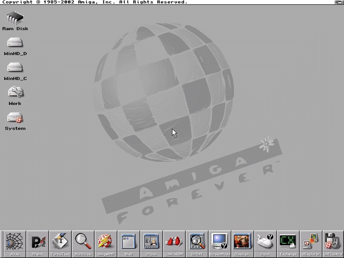 Amiga OS on your PC.