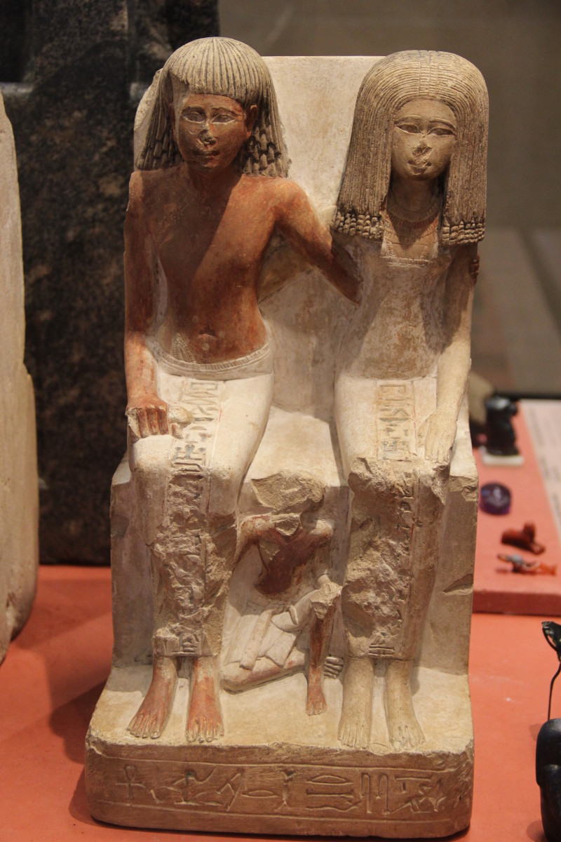 Ancient Egyptian statues with noses smashed to stop the spirit reentering the world