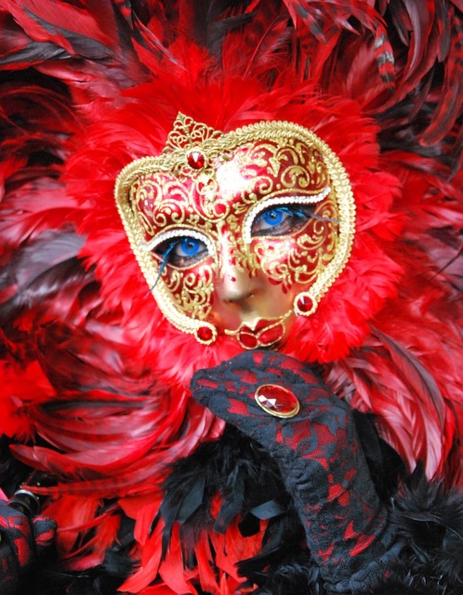 Fancy Portraits with Venetian Masks