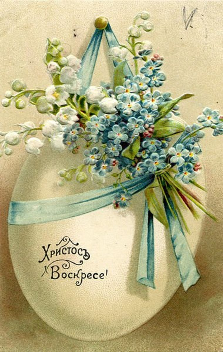 Old Russian Easter Post Card from before 1917.  Image #2
