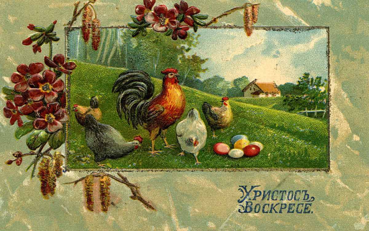 I like this one, it is also Russian, and from before 1917.  The vibrant, rich colors really stand out to me.  Image #7