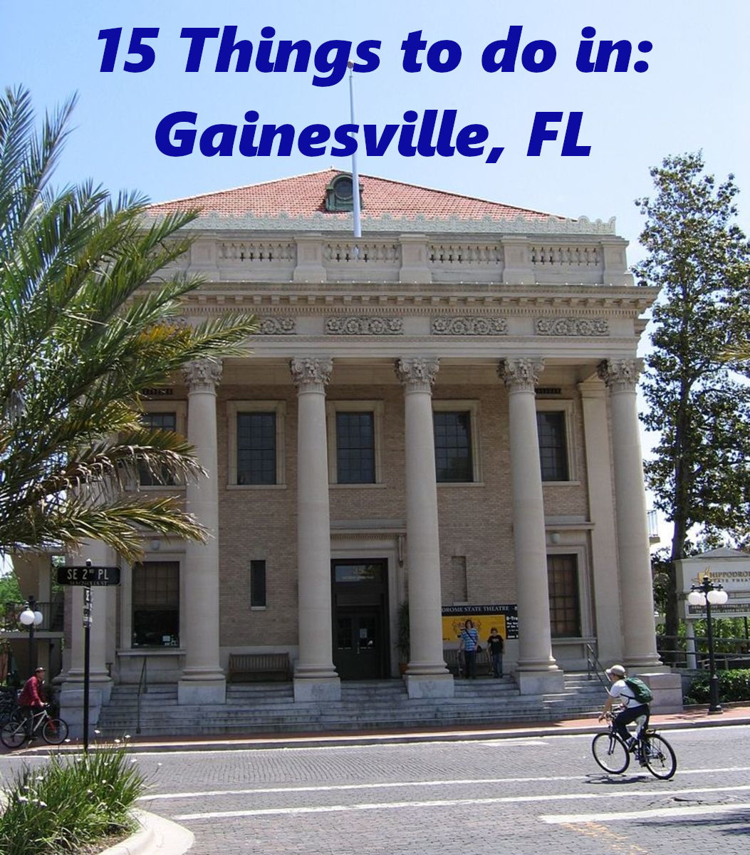 For my 15 things to do in Gainesville, Florida, read on...