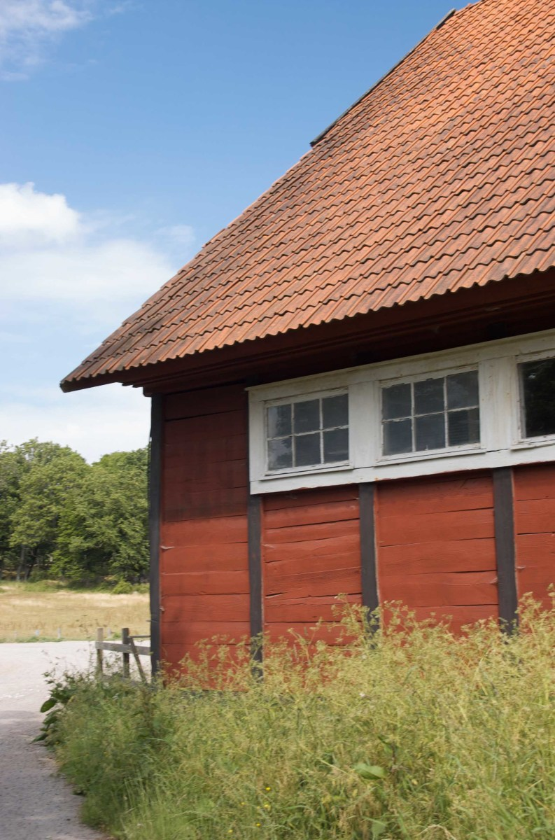 Traditional Swedish 'Falu Red' Barn...