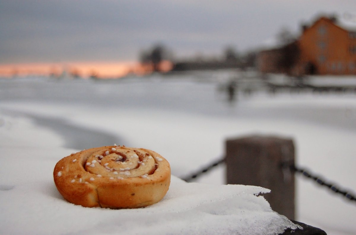 Cinnamon rolls, best enjoyed outdoors!