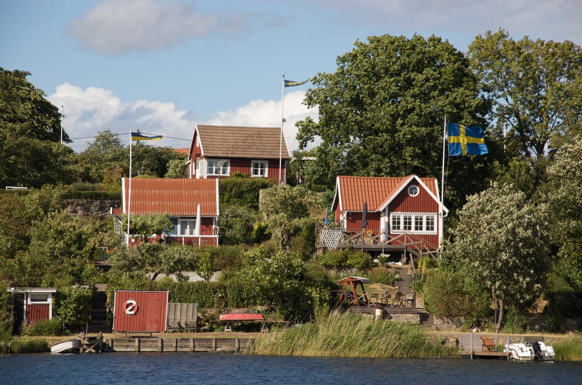 Traditional Swedish Falu Red Cottages