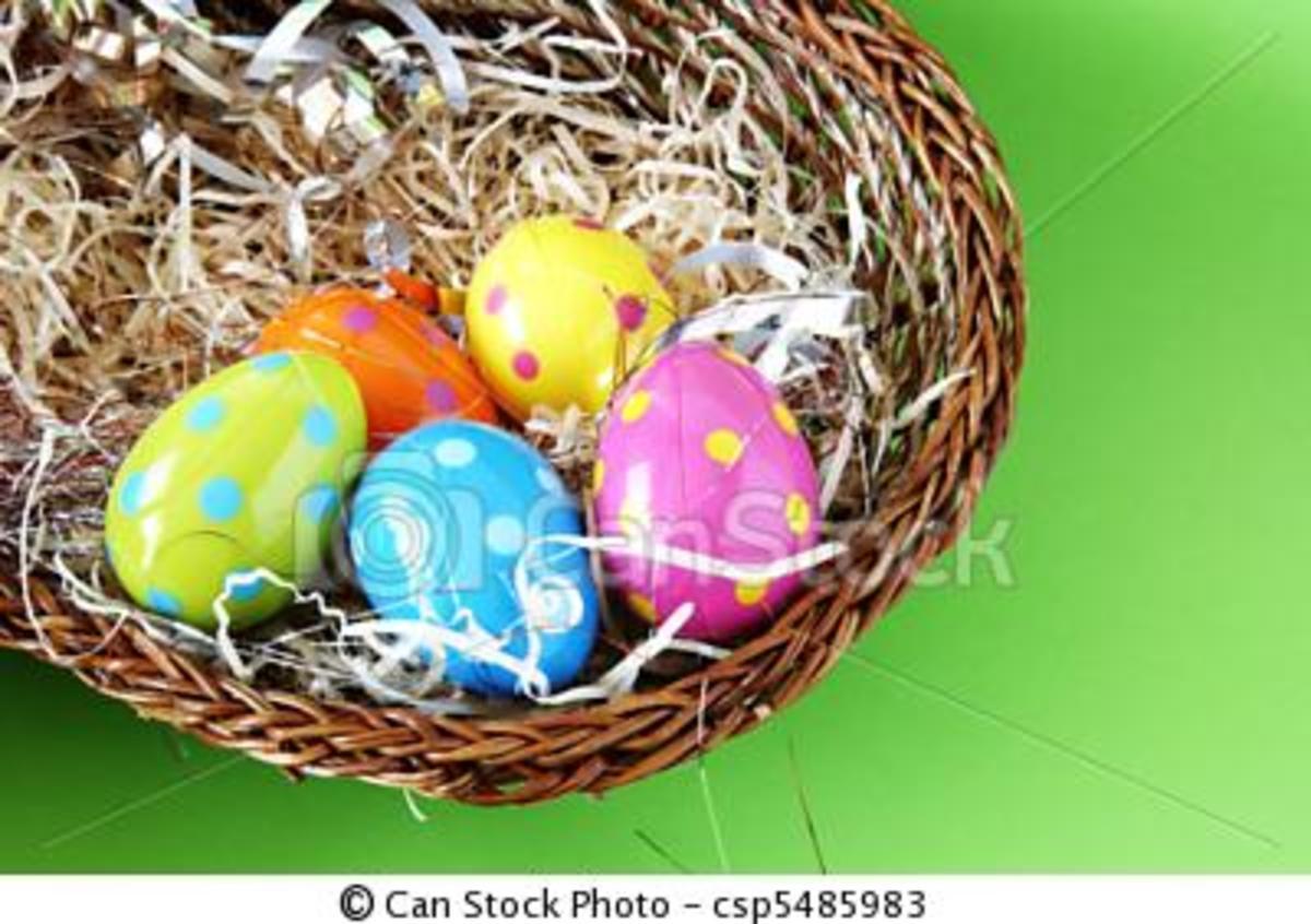 Polka dot design eggs