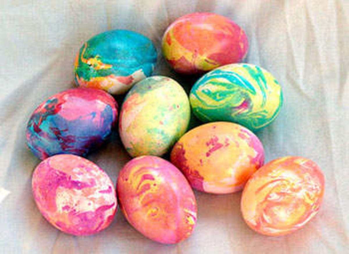 Egg Dying Ideas for Easter