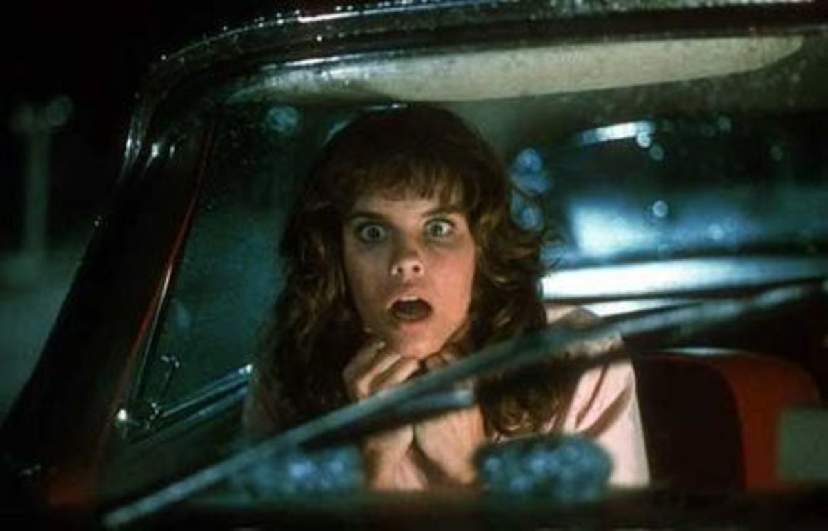 Alexandra Paul goes to the drive-in in Christine