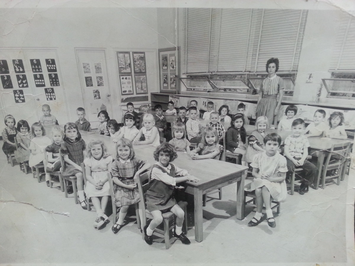 My Kindergarten Class at Eastway Elementary School.  I'm the second one on the first row towards the front.
