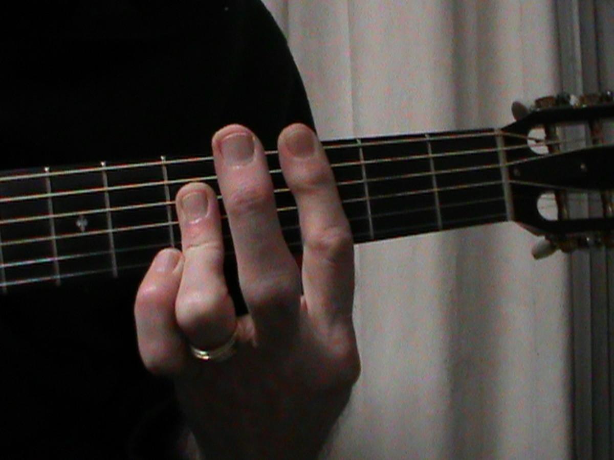 A shaped C Major chord fingering #2