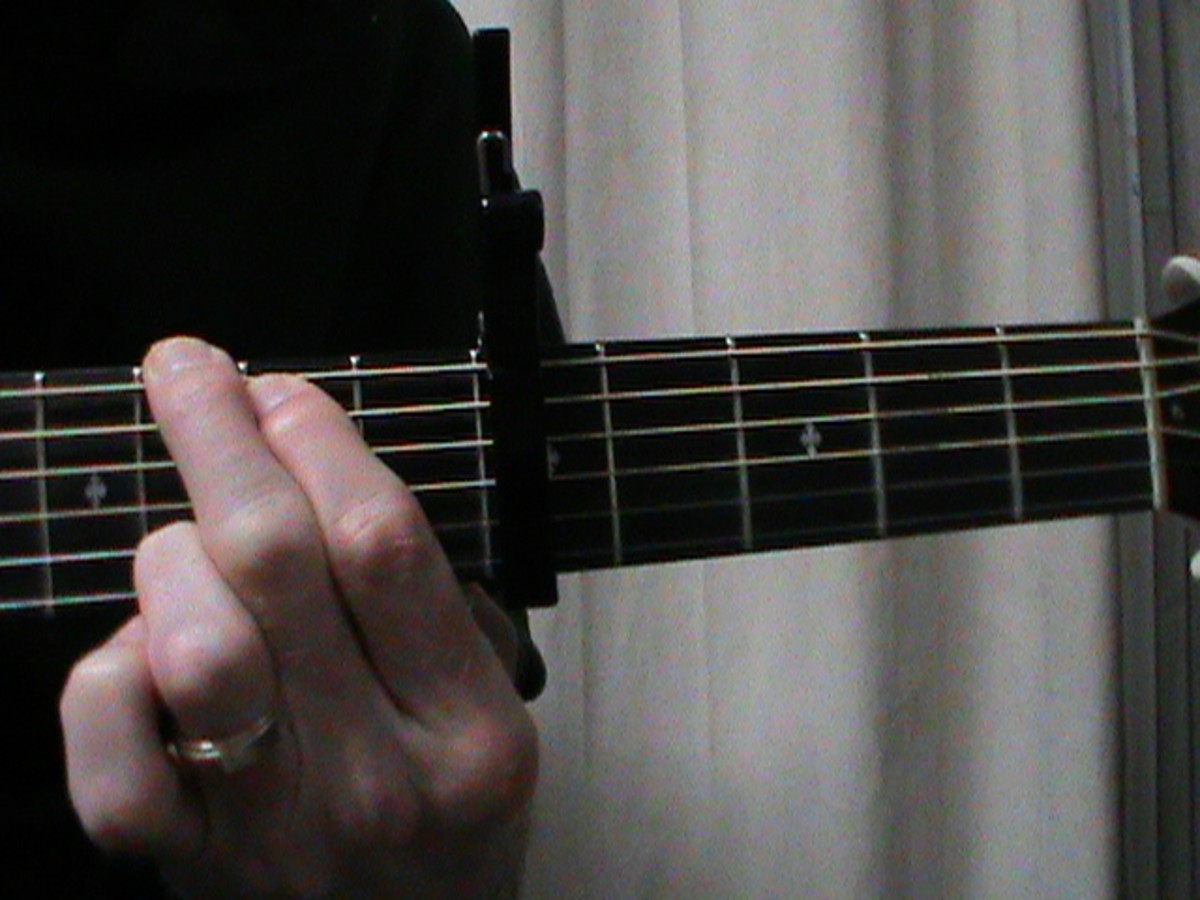 G shaped C Major chord with Capo