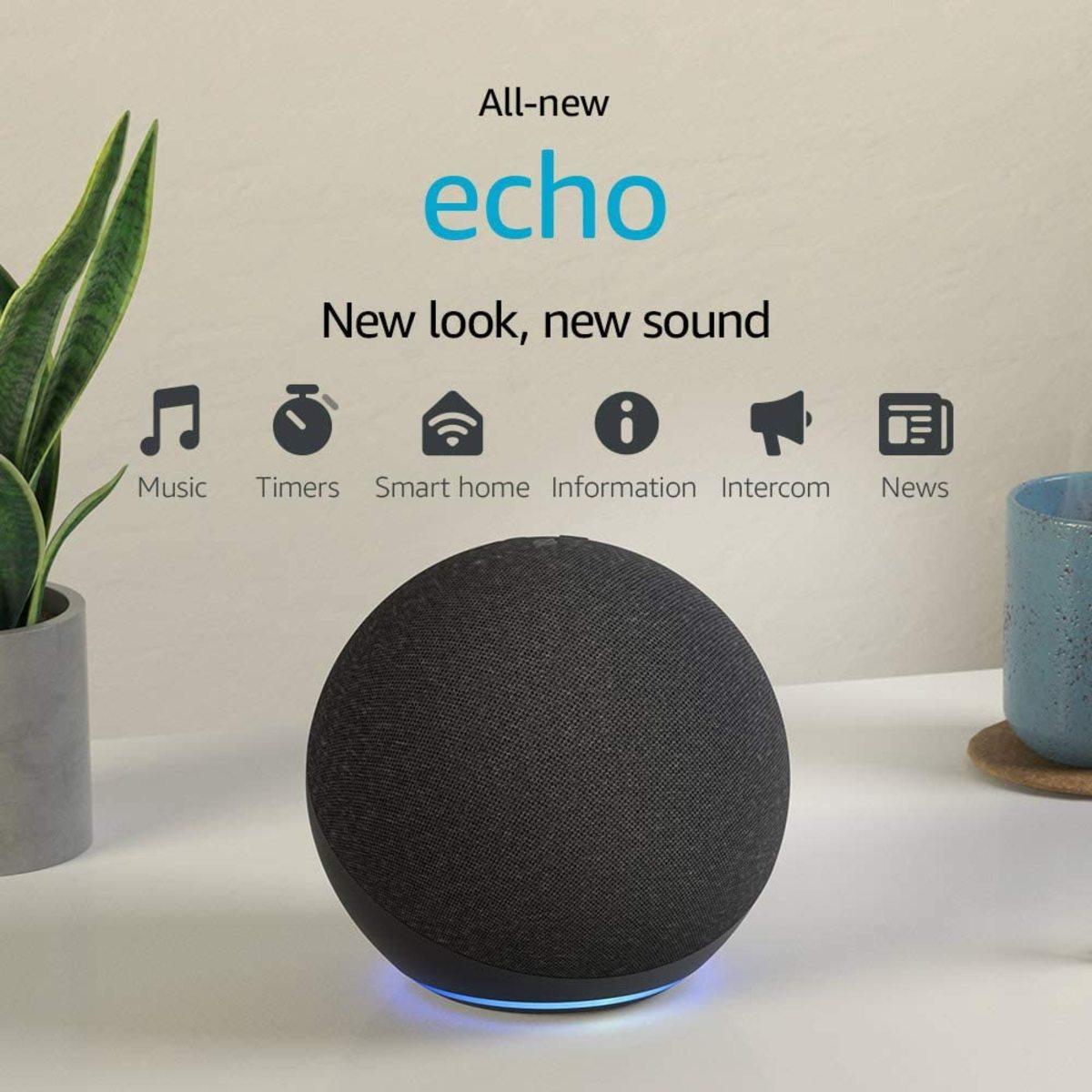 The All-new Echo (4th Gen) | With premium sound, smart home hub, and Alexa