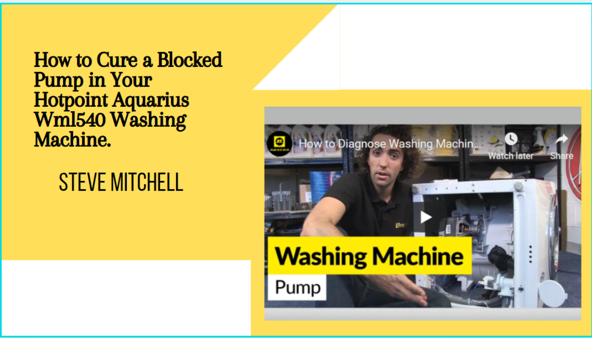 How to Cure a Blocked Pump in Your Hotpoint Aquarius Washing Machine.