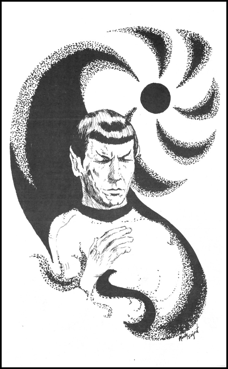 More remarkable fan made artwork from the 1976 STARDATE special Star Trek Anniversary issue. The Fan-Produced Star Trek news magazine.