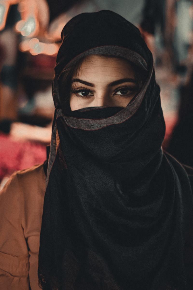 women in black hijab