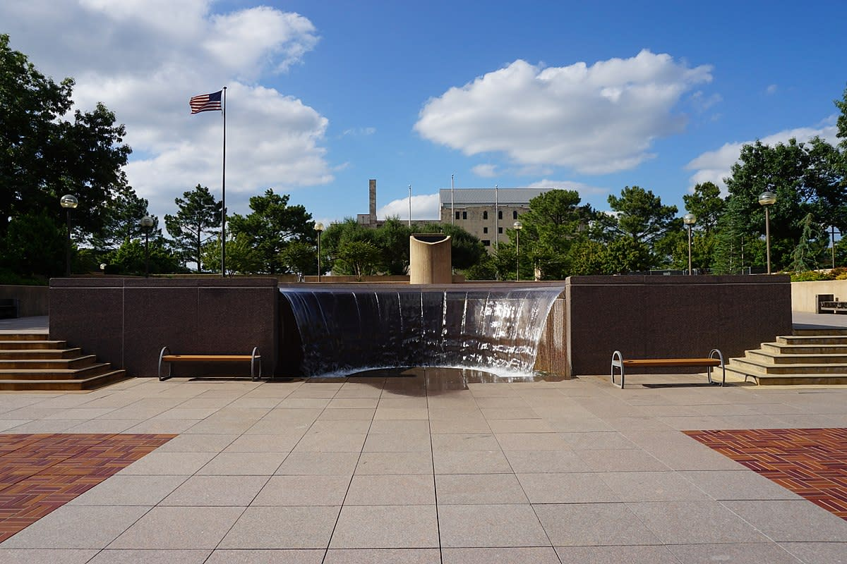 The Oklahoma City National Memorial in Oklahoma City, Oklahoma (United States).