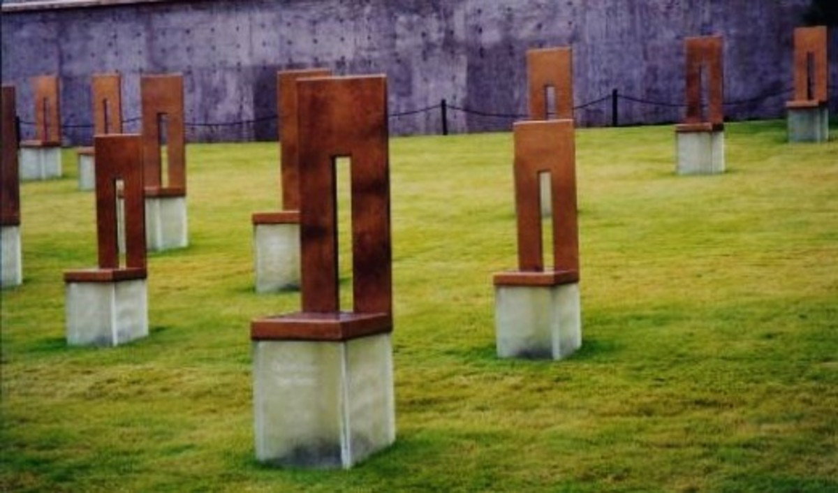 Note the smaller chairs for the children who died.