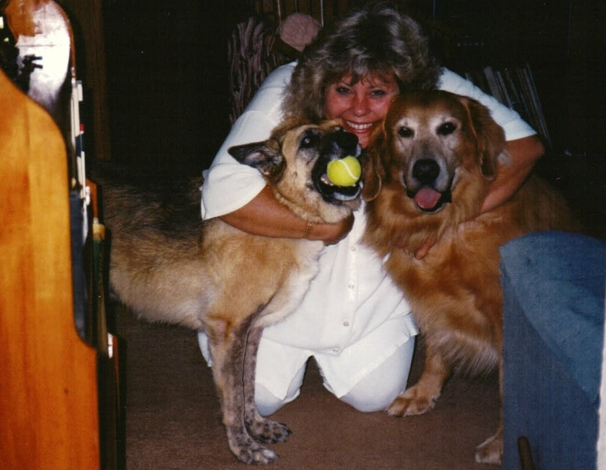 1995 Paula's fur babies Chloe and Aramis