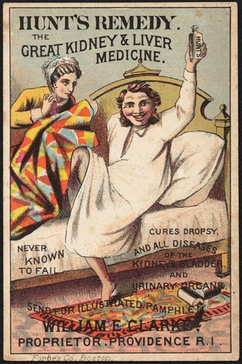 There's a happy patient leaping from his sick bed.