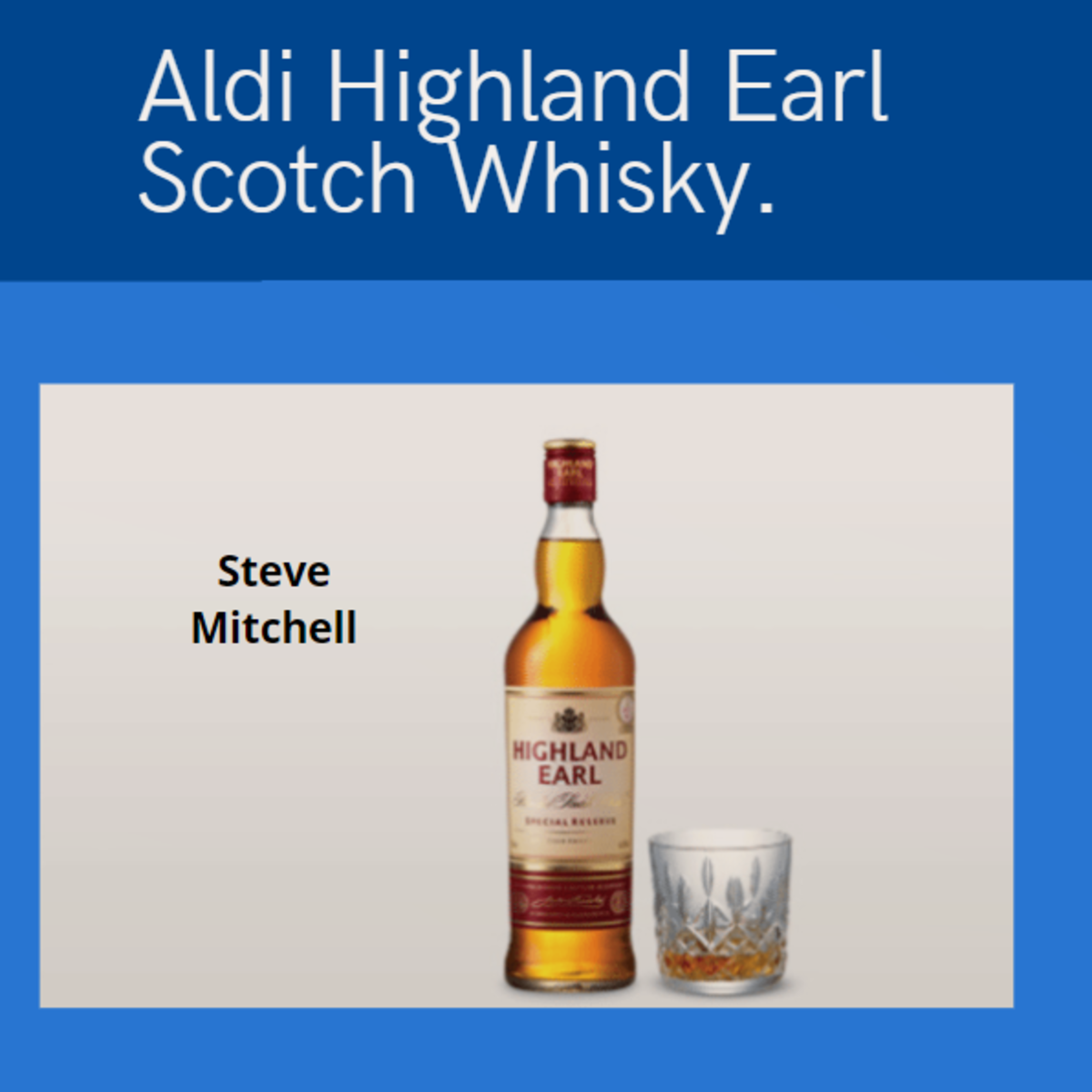 Aldi Highland Earl Scotch Whisky.