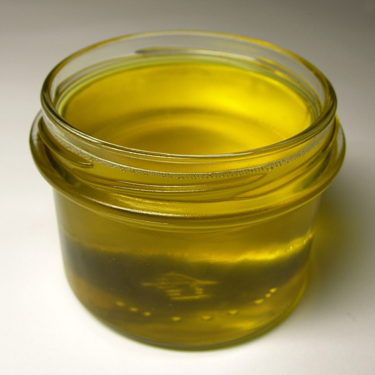 Fresh Ghee (clarified butter) recently made and still warm.